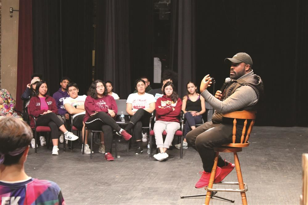 Morton East and Morton West participated in a dance workshop.